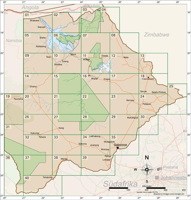 Karten Botswana
