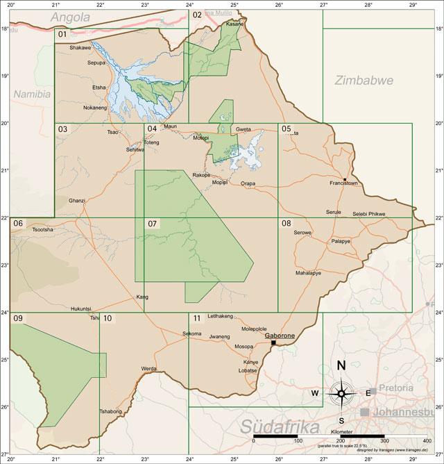 Reisekarten Botswana