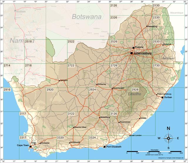 Karten Südafrika