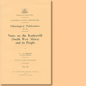 Notes on the Koakoveld (South West Africa) and its People