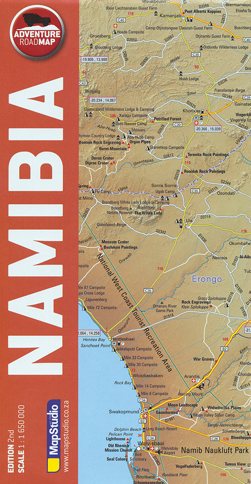 Adventure Road Map Namibia (MapStudio)