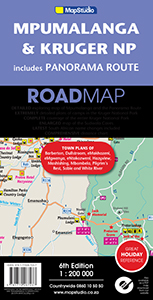 Mpumalanga and Kruger National Park incl. Panorama Route Road Map (MapStudio)