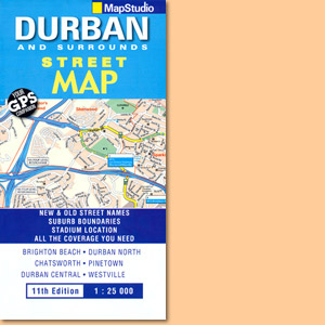 Durban & Surrounds Street Map (MapStudio)