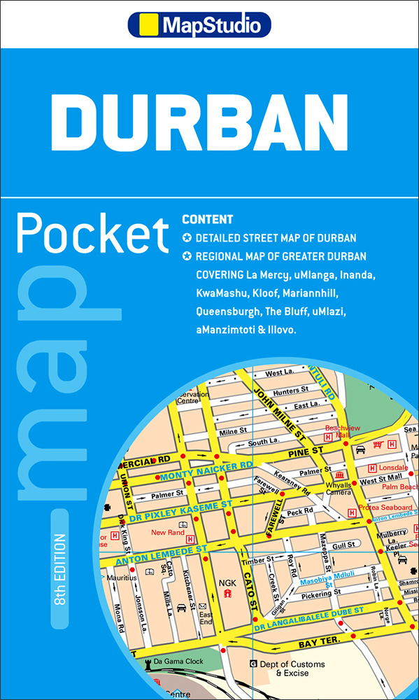 Durban Pocket Map (MapStudio)