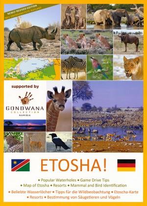 Etoscha! Wasserlöcher, Wildbeobachtung, Karten, Resorts, Tierbestimmung