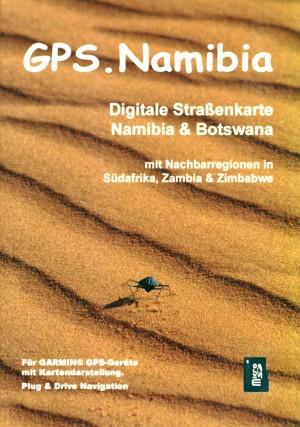 GPS-Karte Namibia auf microSD-Speicherkarte
