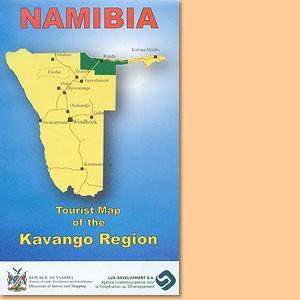 Tourist Map/ Karte of the Kavango Region 1:500.000