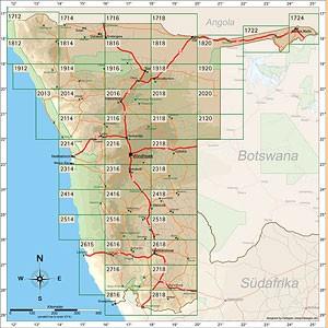 Namibia Karte Satz/Set [1:250.000]