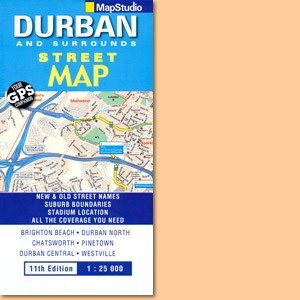 Durban & Surrounds Street Map (MapStudio)