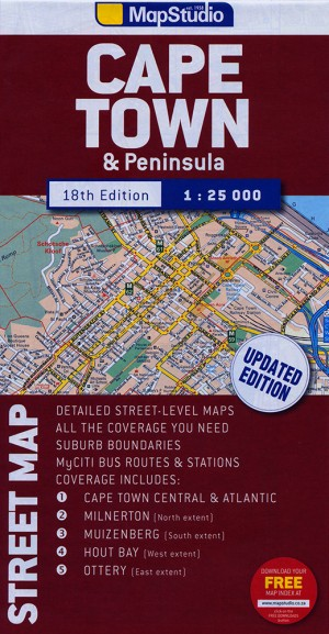 Cape Town & Peninsula Street Map (Mapstudio)