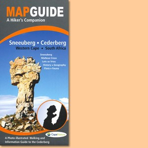 Map Guide Sneeuberg in the Cederberg, Western Cape of South Africa