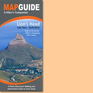 Map Guide Lion's Head in Cape Town, South Africa