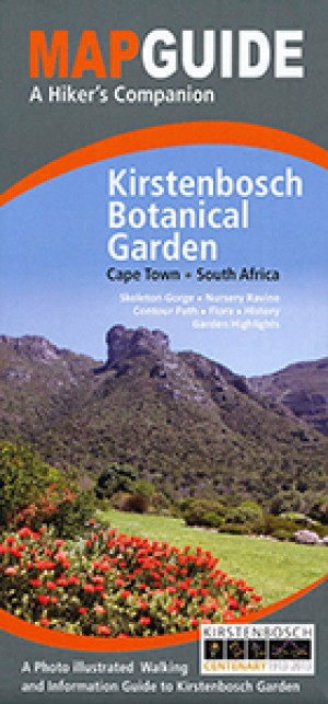 Map Guide to Kirstenbosch Botanical Garden at Cape Town, South Africa