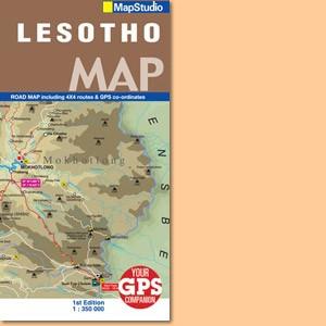 Lesotho Road Map (Mapstudio)