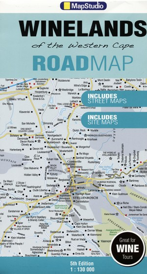Winelands of the Western Cape Road Map/Karte (MapStudio)