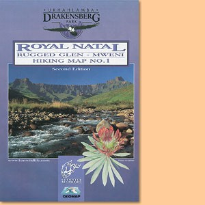 Drakensberg Hiking Map/ Wanderkarte No 1 - Royal Natal, Rugged Glen, Mweni 1:50.000