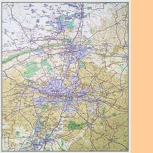 Pretoria-Witwatersrand-Vereeniging (Gauteng) 1:250.000