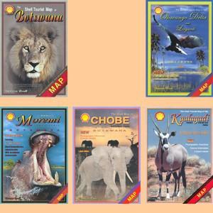Shell-Karten von Botswana / Shell maps of Botswana