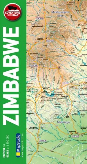 Zimbabwe Adventure Road Map (Mapstudio)