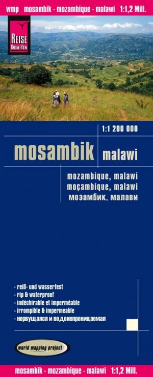 Mosambik-Mozambique-Malawi-Karte (Reise Know-How)