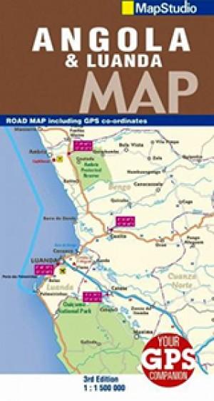 Angola Road Map 1:1.500.000 (MapStudio)