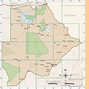 Botswana Karten Satz/Set [1:500.000]