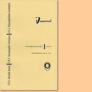 JOURNAL Vol. 25 (1970-71)