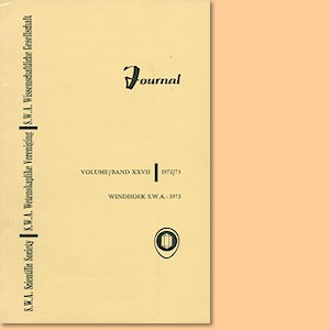 JOURNAL Vol. 27 (1972-73)