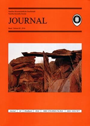 Journal 62-2014 (Namibia Scientific Society / Namibia Wissenschaftliche Gesellschaft)