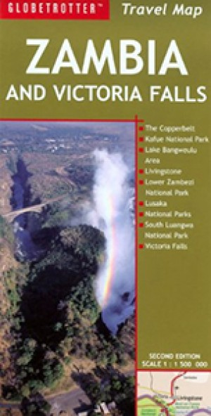 Zambia and Victoria Falls Travel Map (Globetrotter)