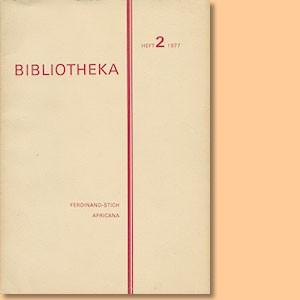 Bibliotheka Heft 2 Ferdinand Stich Africana