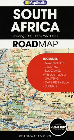 South Africa Road Map (MapStudio)