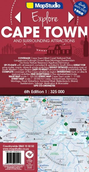 Cape Town & Surrounding Attractions Road Map (MapStudio)