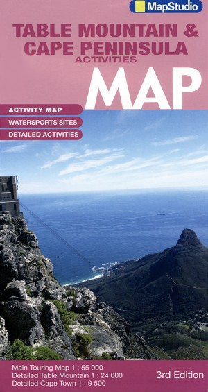 Table Mountain and Cape Peninsula Activities Map (MapStudio)