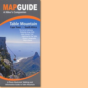 Map Guide Table Mountain in Cape Town, South Africa
