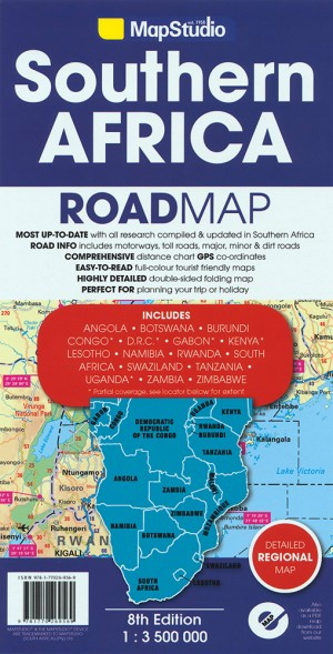 Southern Africa Road Map (MapStudio)