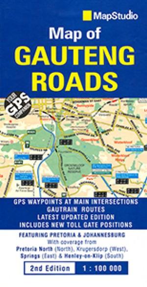 Map of Gauteng Roads (MapStudio)