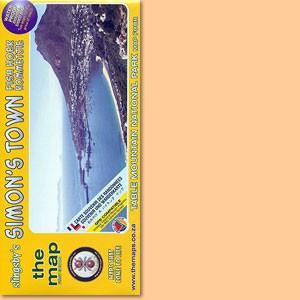Slingsby's Simon's Town Karte / map - Fish Hoek Kommetjie 1:20.000