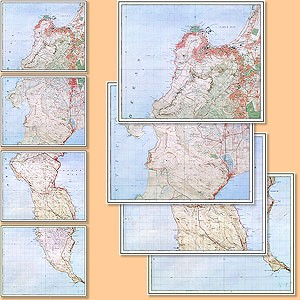 Cape Peninsula Area (Reprint 1930's) 1:25.000
