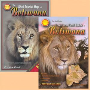 The Shell Tourist Map of Botswana plus The Shell Tourist Travel and Field Guide of Botswana