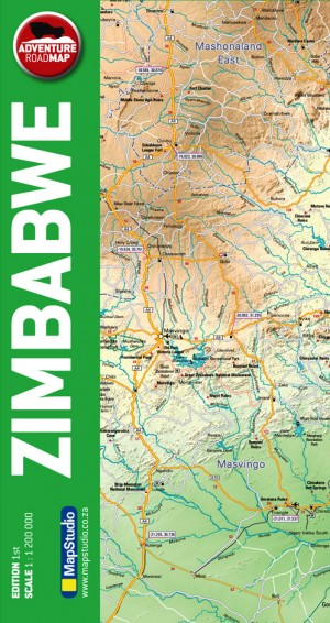 Zimbabwe Adventure Road Map (Mapstudio)