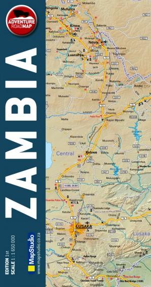 Zambia Adventure Road Map (MapStudio)