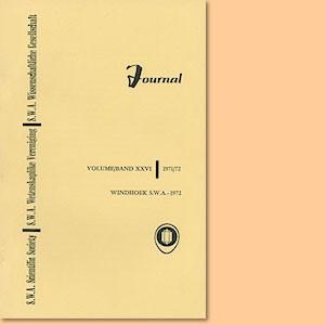 JOURNAL Vol. 26 (1971-72)