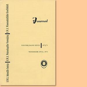 JOURNAL Vol. 27 (1972-73)