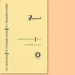 JOURNAL Vol. 28 (1973-74)