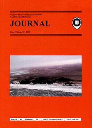 Journal 60-2012 (Namibia Wissenschaftliche Gesellschaft / Namibia Scientific Society)