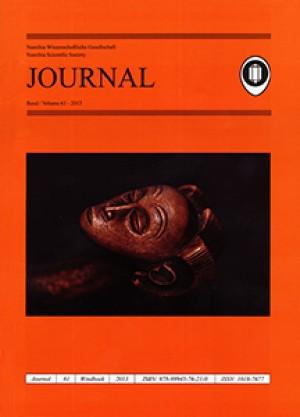 Journal 61-2013 (Namibia Wissenschaftliche Gesellschaft / Namibia Scientific Society)