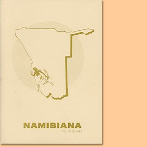 Namibiana Vol. IV (2) 1983