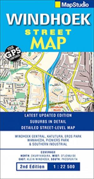 Windhoek Street Map; Stadtplan (MapStudio)