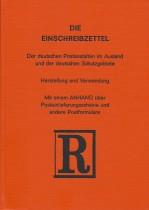 Die Einschreibzettel der deutschen Postanstalten im Ausland und der deutschen Schutzgebiete